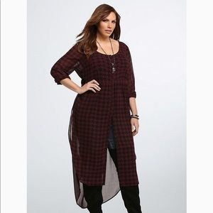 Torrid   houndstooth maxi blouse size 4/4X